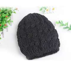 MM favorite ~ pure hand-woven coarse line cap / pineapple hat | Black