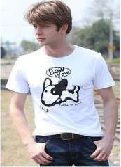 Fashion creative | Coke T-Shirt | Naughty Dog | Zhang Xian free individuality | White