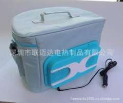 Car manufacturers supply hot and cold boxes, hot and cold packs, with intelligent electronic devices, portable folding