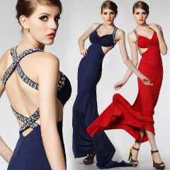 Cutout spaghetti strap racerback sexy formal dress dinner long design formal dress female formal dress