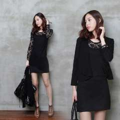 Lace one-piece dress 2013 slim hip slim one-piece dress plus size clothing basic skirt