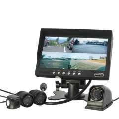 4 Camera Car Rearview\Frontal Monitoring System - 7 Inch Monitor, Waterproof Cameras, Nightvision
