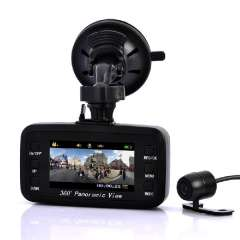 Car Recording Black Box Camera - 260 Degree Front Viewing Angle, 130 Degree Rear Viewing Angle