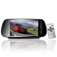 Touch Button Control 7 Inch Rearview Mirror Monitor - 4: 3 Ratio, 480X234