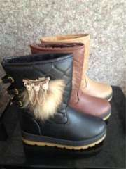2013 winter short boots female high-top shoes women warm snow boots slip shoes | fur collar 6603