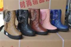 2013 Universal Tall boots genuine new senior PU Wenzhou snow boots thick warm boots 8866 anti flowers