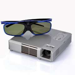 3D HD Video Projector with DLP - 1280X800, 1000: 1, 300 Lumen, Portable