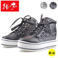 2013 new shoes step Yu | muffin heavy-bottomed canvas shoes sequined skull wholesale labeling | injection shoes