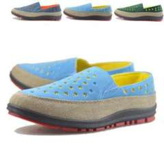 2013 new summer Korean version of the candy-colored tide men | wholesale breathable hole shoes | Couple shoes | Yu genuine step