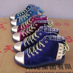 Within the fashion trend canvas shoes to help women velvet lace casual shoes 802