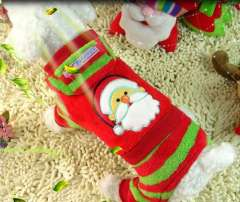 2014 Brand New Santa Claus New Year Pet Coat Dress Dog Winter Clothes Red Sale Promotion Red XS, S, M, L