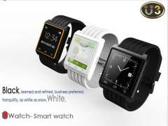 2014 New Arrival Android Watch Multi-Functional High-Tech Bluetooth Watch U3 Silicon LED Sports Watch