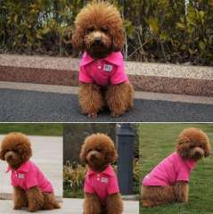 Colorful T-shirt Pet Clothing Cotton POLO Shirt Spring and Summer Dog Clothing 10pcs\lot XS S M L XL