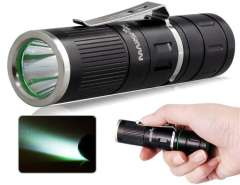MarsFire 303 CREE XM-L T6 LED 5-Mode 400 Lumens Flashlight with Battery, Gift Box (Black)