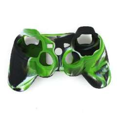 PS3 camouflage | handle silicone sleeve | Black & White Green