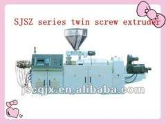 SJSZ55 conical twin screw extruder for pipe