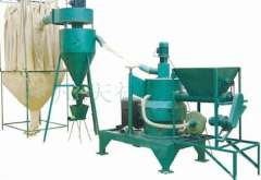 Vertical wood powder machine