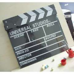 Wooden fans necessary Movie clapper slate