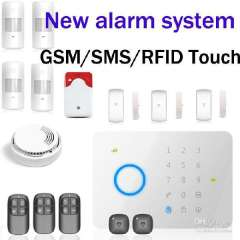 Chuango G5 315MHZ GSM \ SMS Quad-band RFID Touch Alarm System G5 1 Set 50 Zones Touch Keypad GSM Phone SMS Wireles free shipping