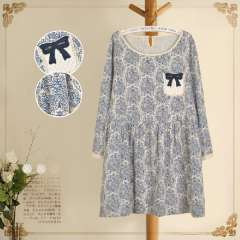 waypoints spring floral print dress new national relaxed casual cotton dress 1111