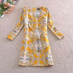 Wholesale high-end European and American big yards loose, casual dress bottoming