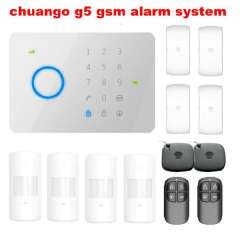 DHL free shipping CHUANGO G5 GSM SMS 315Mhz Home Burglar Security Alarm System Free shipping
