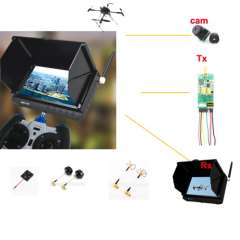 5 Inch Portable Fpv Monitor with Sunshade
