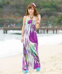 2012 new | Color Bohemian chest wrapped beads lace | halter dress beach dress