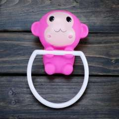 Cute pink monkey strong suction cup towel hanging / towel rack