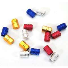Bright aluminum car valve cap / valve cover | Random colors