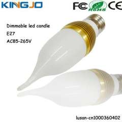 240lm 4w dimmable e27 led candle bulb
