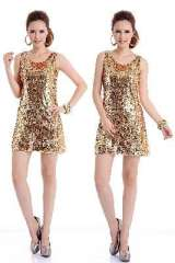 Brilliance shines | gold sequined dresses | Dress | net veil
