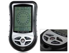 Handhold Multifunctional Electronic Fishing Barometer (Black)