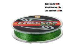 0.16mm 12kg\25LB 100m Lure Dyneema PE Eight Woven Braid Fishing Line (Green)