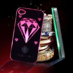 Diamond | LED flash | calls induction Phone Case for iPhone4 / 4S