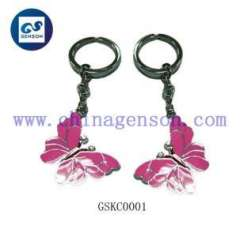 butterfly diamond key chian
