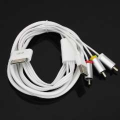 Video cable | AV cable | TV lines | Charging data synchronization for iphone 4 4s ipod ipad