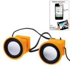 Mini | Clip speakers | speaker Surround | suitable for iPad2 / 3 | Tablet PC | Yellow