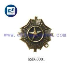 metal souvenir badge