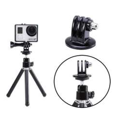 2015 New Hot Sale Durable GoPro Action Sport Camera Tripod Mount Holder Adapter for GoPro HD Hero 3+\3\2 Free Shipping Wholesale