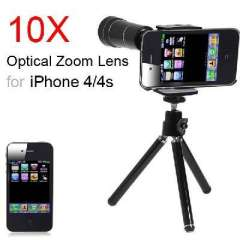 Black | Mini telescope | portable | Apple iPhone 4 4S 10 special telescopes telescope suit times