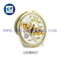 butterfly metal cosmetic mirror
