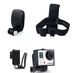 Durable Helmet Head Strap with Quick Hat Clip Set for Gopro Hero 3+ 3 2 1 Camera Snow
