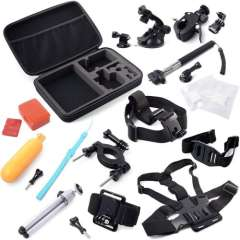 Durable 16in1 Camera Accessories Carry Bag + Chest Strap + Monopod Holder Set for Gopro Hero 1 2 3 3+ Snow