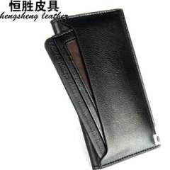 Factory outlets | Leather | External card wallet | wallet business casual vertical section | Leather Wholesale | Wallet