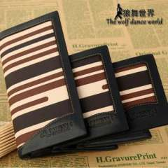 2013 Men's explosion models wholesale spot stripe bag Miss Qian Bao Korean fashion leather high-grade leather wallet