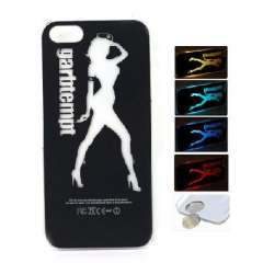 LED lightning flash | sexy girl with CR2016 electronic phone shell for iPhone5