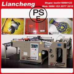 semi automatic screen printing machine for paper productions linear touch high precision imported parts inverter control PLC