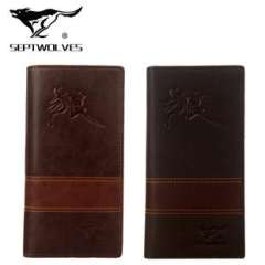 Explosion models selling men's fashion leather long wallet long paragraph suit bags of professional manufacturers of soft leather card package Comfort