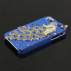 IPHONE 4G 4S high-end mobile phone shell | peacock | flash drilling | Full blue